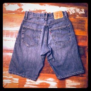 Levi's 569 Denim Shorts Distressed Wash Size 29